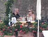 Reese Witherspoon and Jim Toth lunch in Italy.