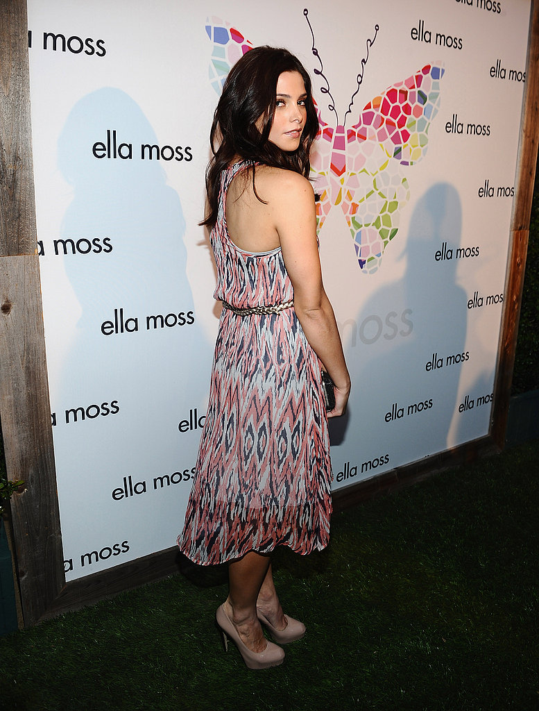 Ashley Greene poses at an LA party.