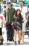 Kris Humphries and Kim Kardashian left lunch together.