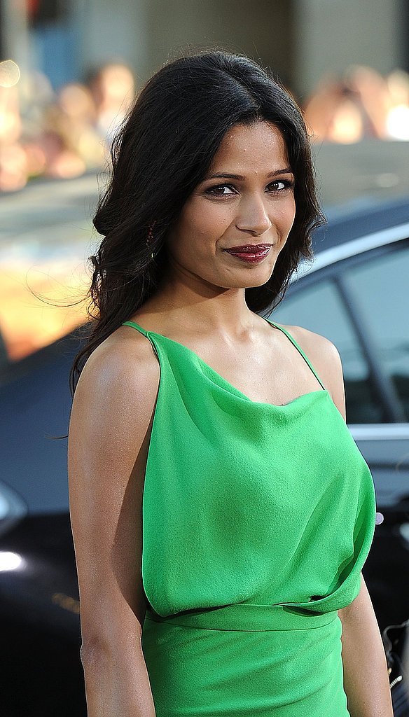 Freida Pinto wore a loose braid.
