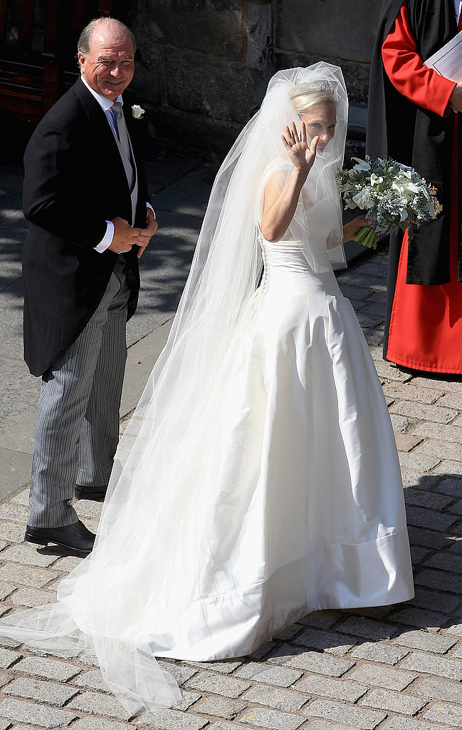 Zara Phillips's wedding dress from designer Stewart Parvin.