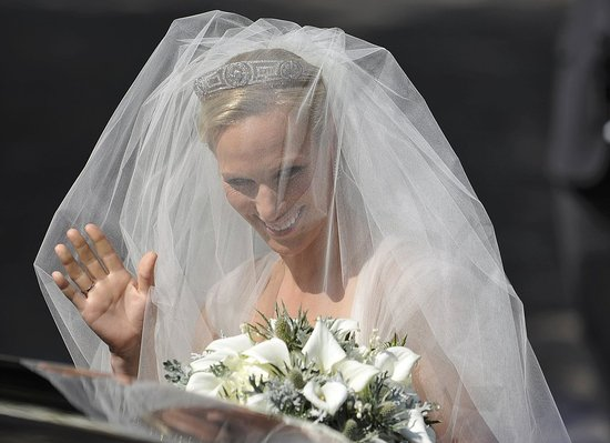 Zara Phillips is a beautiful bride.