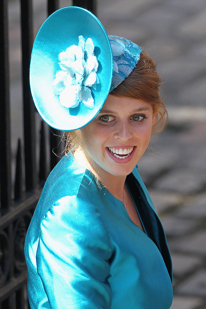 Princess Beatrice attends the wedding of Zara Phillips and Mike Tindall.