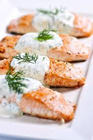 Diabetic Recipes - Grilled Salmon With Dill Sauce