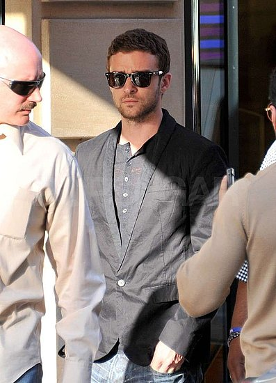 Justin Timberlake shopped in Paris.