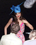 Miranda wore a show-stopping blue hat.