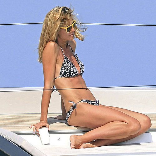 Heidi Klum Bikini Pictures in Ibiza Kissing Seal
