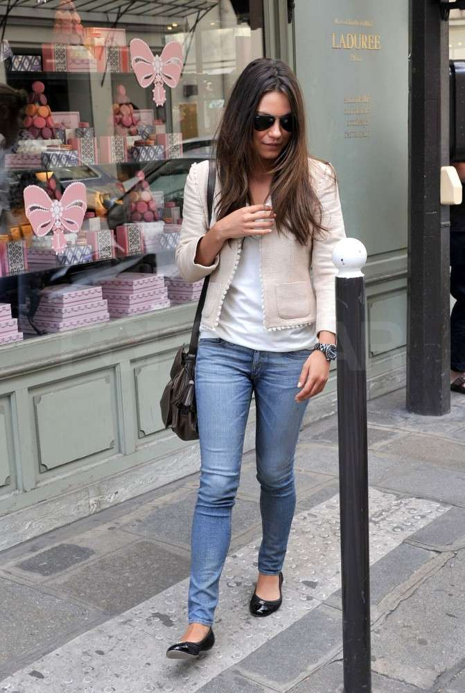 Mila Kunis strolled in Paris.