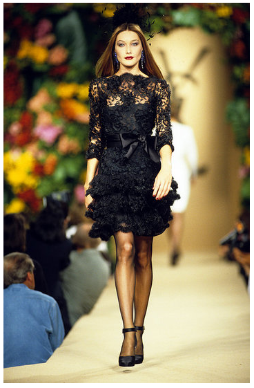 Carla Bruni walked in one of YSL's lauded couture shows from the '90s.