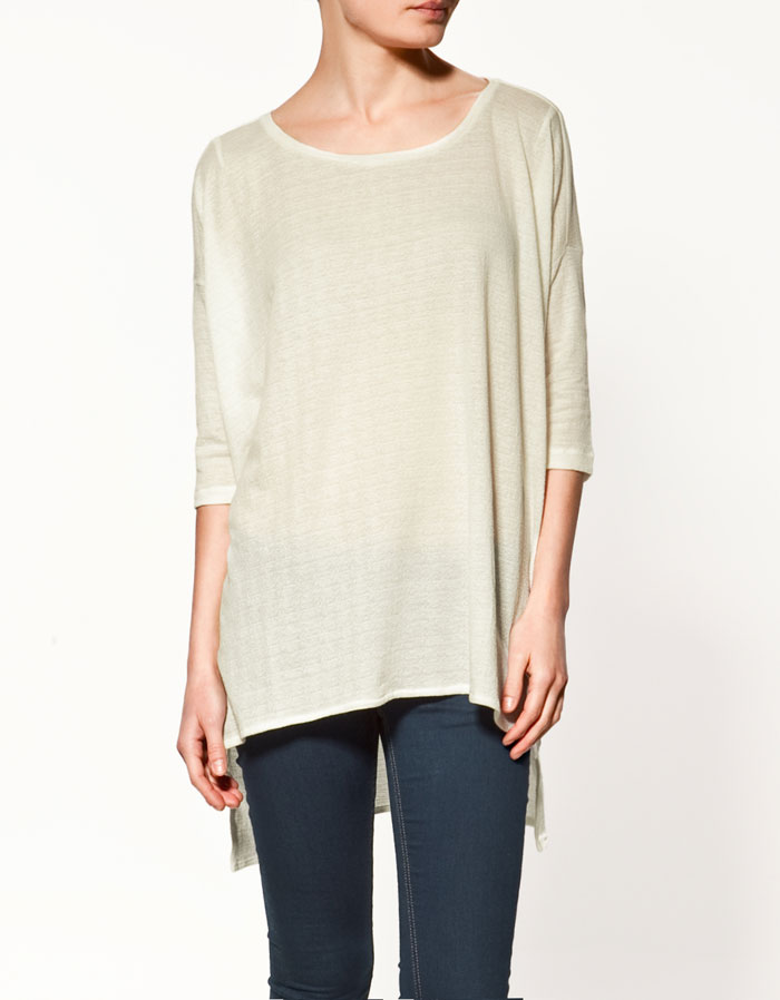 T-Shirt with Uneven Sleeves, $29.90