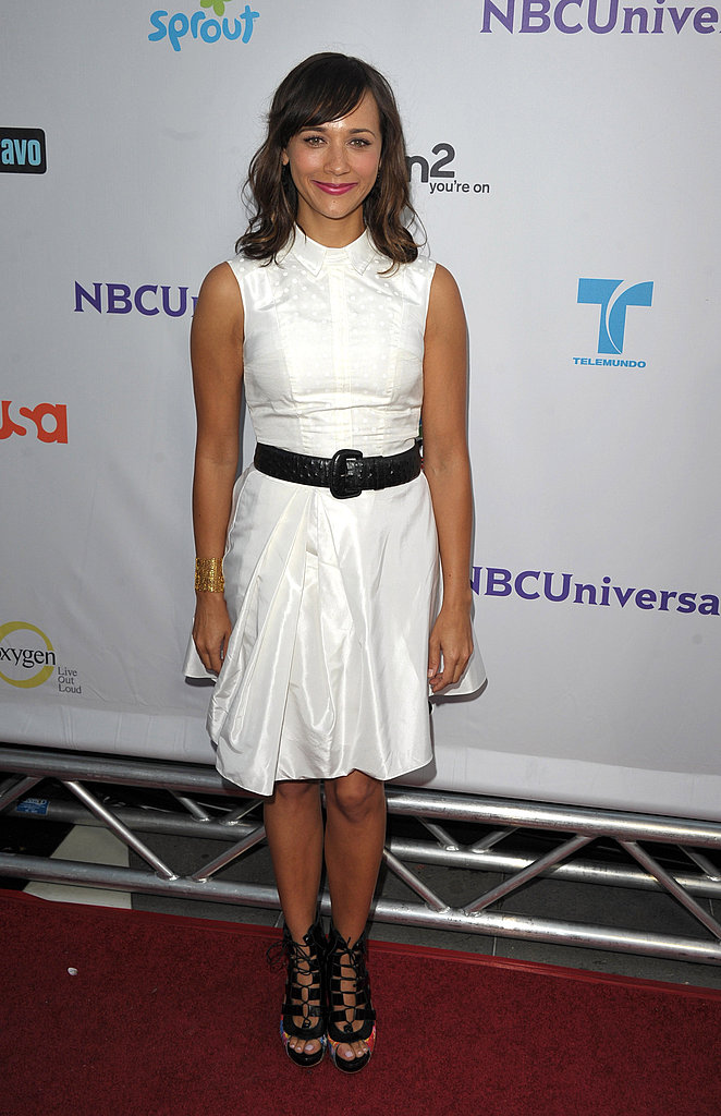 Rashida Jones in white.