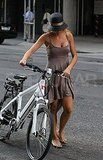 Blake Lively with her bike.