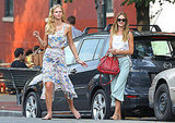 Rosie met up with fellow Victoria's Secret Angel Erin Heatherton.