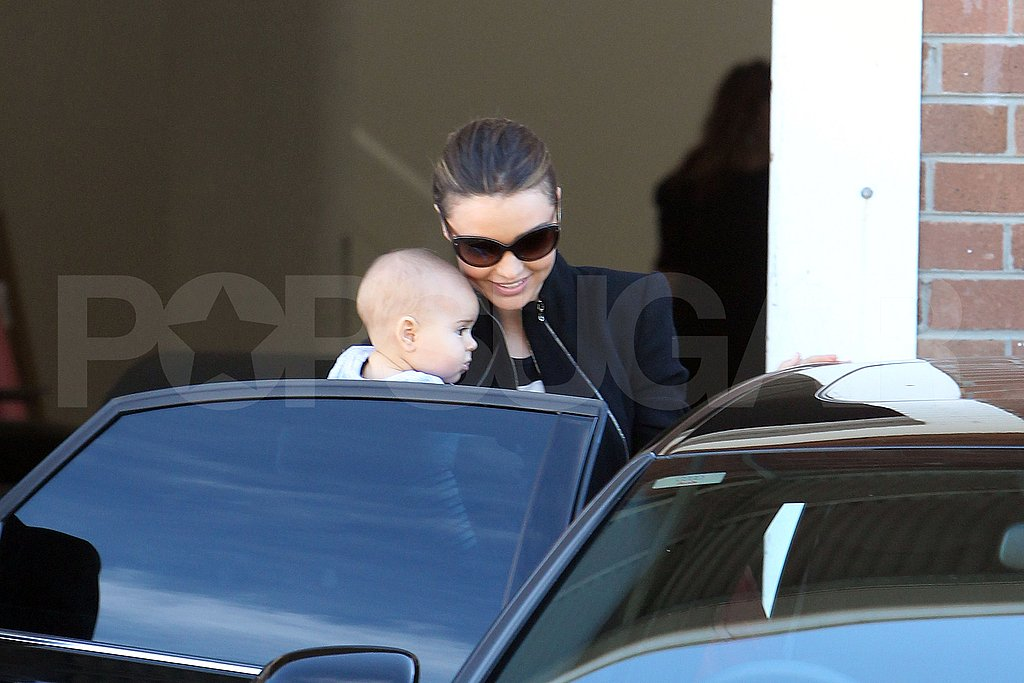 Miranda Kerr and Flynn Bloom after a photo shoot.