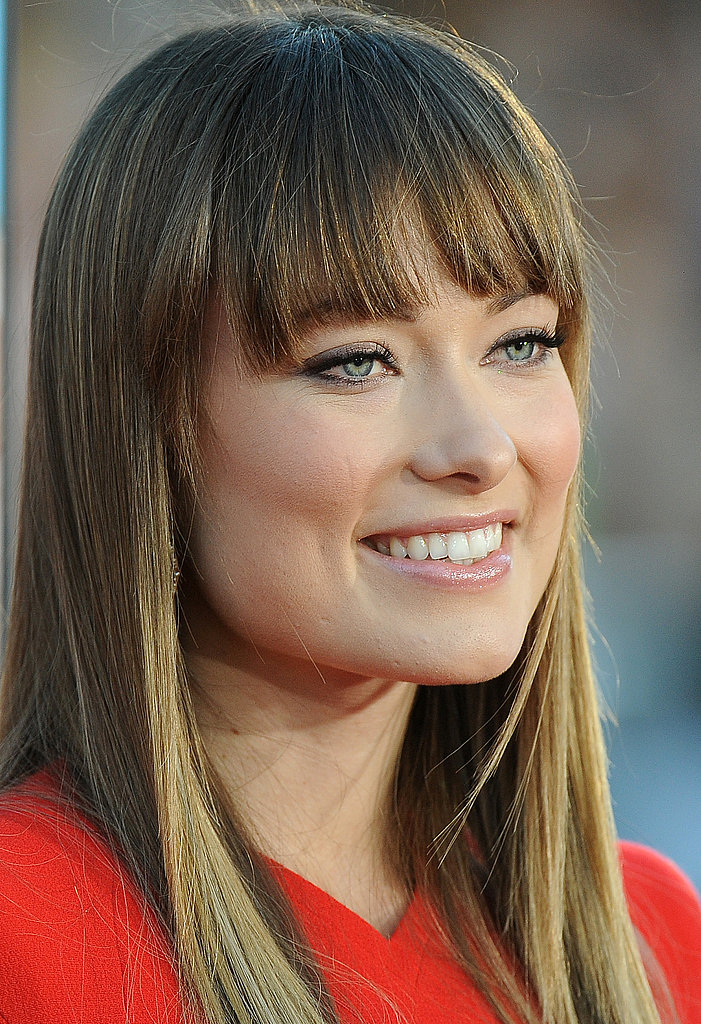 Olivia Wilde with long hair.