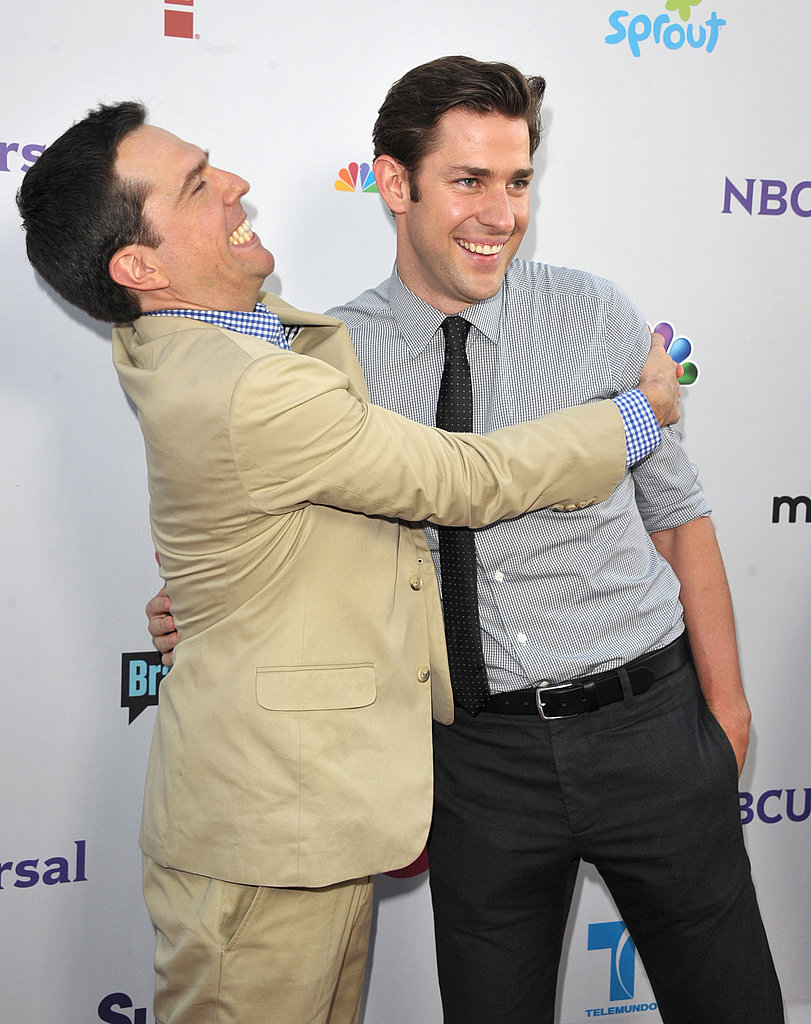 John Krasinski with Ed Helms from The Office.