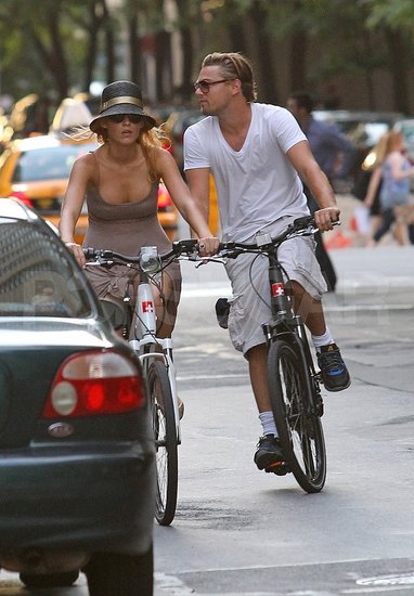 Leonardo and Blake Take Their Romance Onto the Streets For a Bike Ride