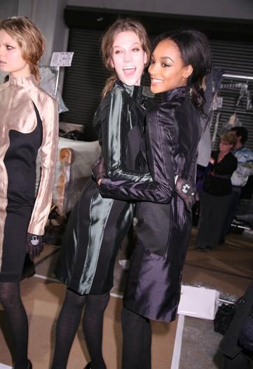 Karlie Kloss and Jourdan Dunn