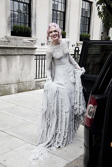 See Stylist and Street Style Favorite Katie Shillingford's Custom Gareth Pugh Wedding Dress