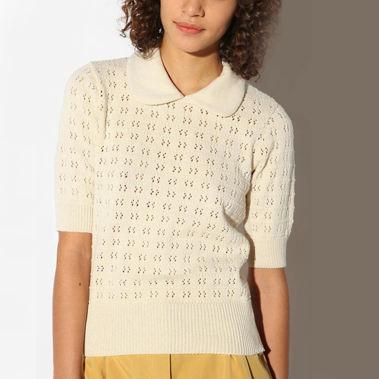 Pins and Needles Pointelle Sweater, $48