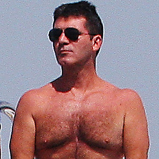 Simon Cowell Shirtless in Pink Shorts in St. Tropez Pictures