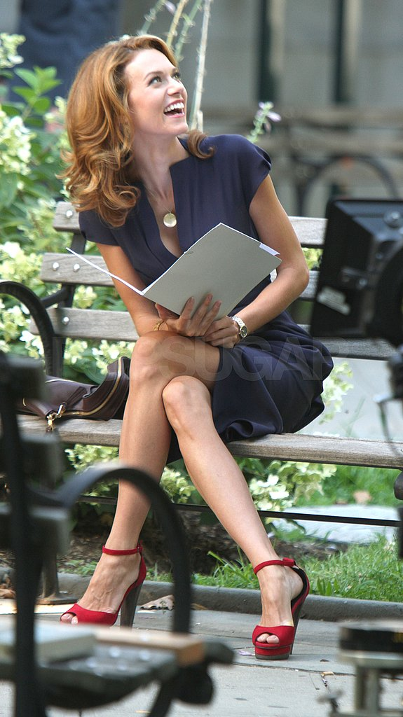 Hilarie Burton read lines in NYC.