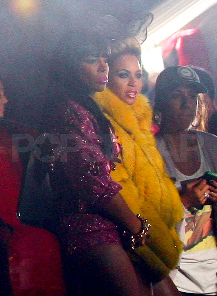 "Beyoncé Knowles and Kelly Rowland in NYC shooting the video for ""Party."""