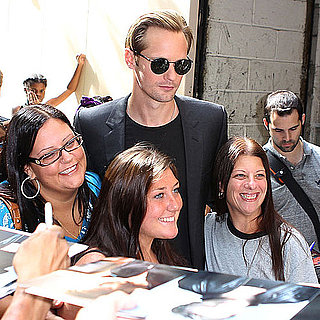 Alexander Skarsgard Pictures at Regis and Kelly in NYC