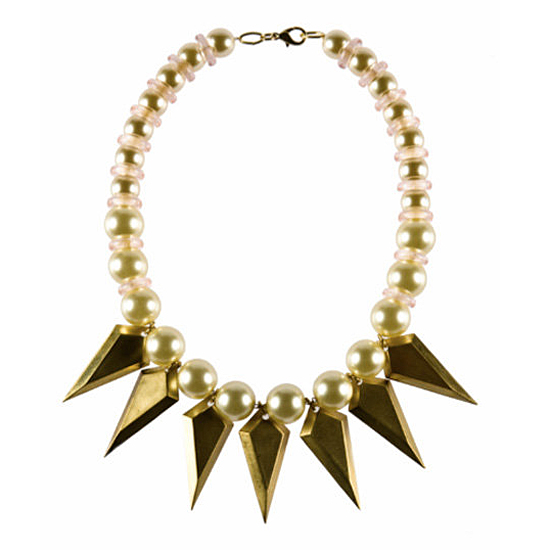 Nicole Romano Spear and Pearl Necklace, $488