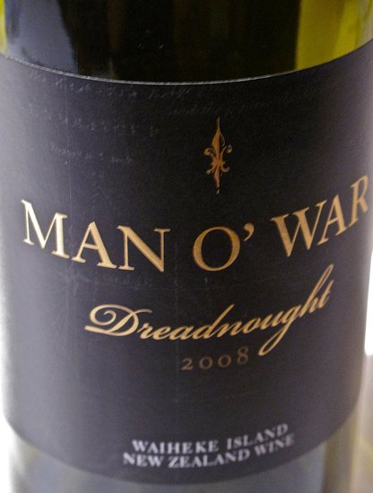 2008 Man O' War Syrah Dreadnaught