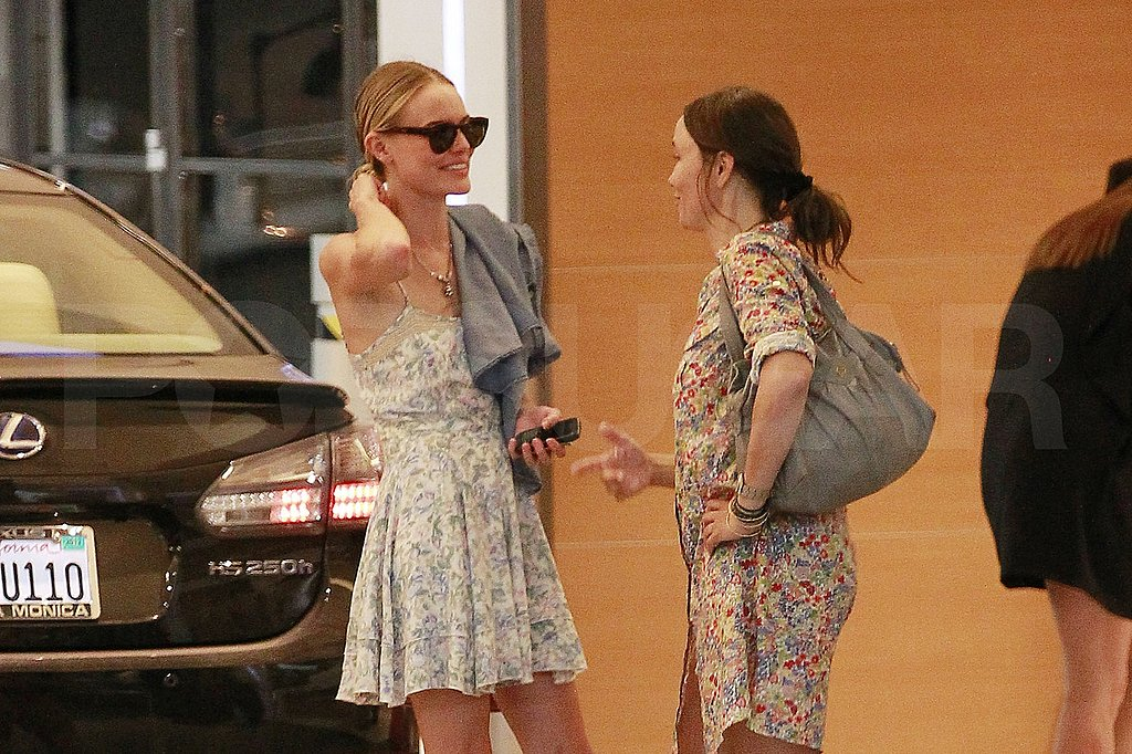 Kate Bosworth wore a floral dress.