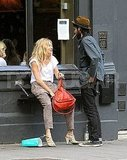 Sienna Miller and Tom Sturridge took a smoke break.