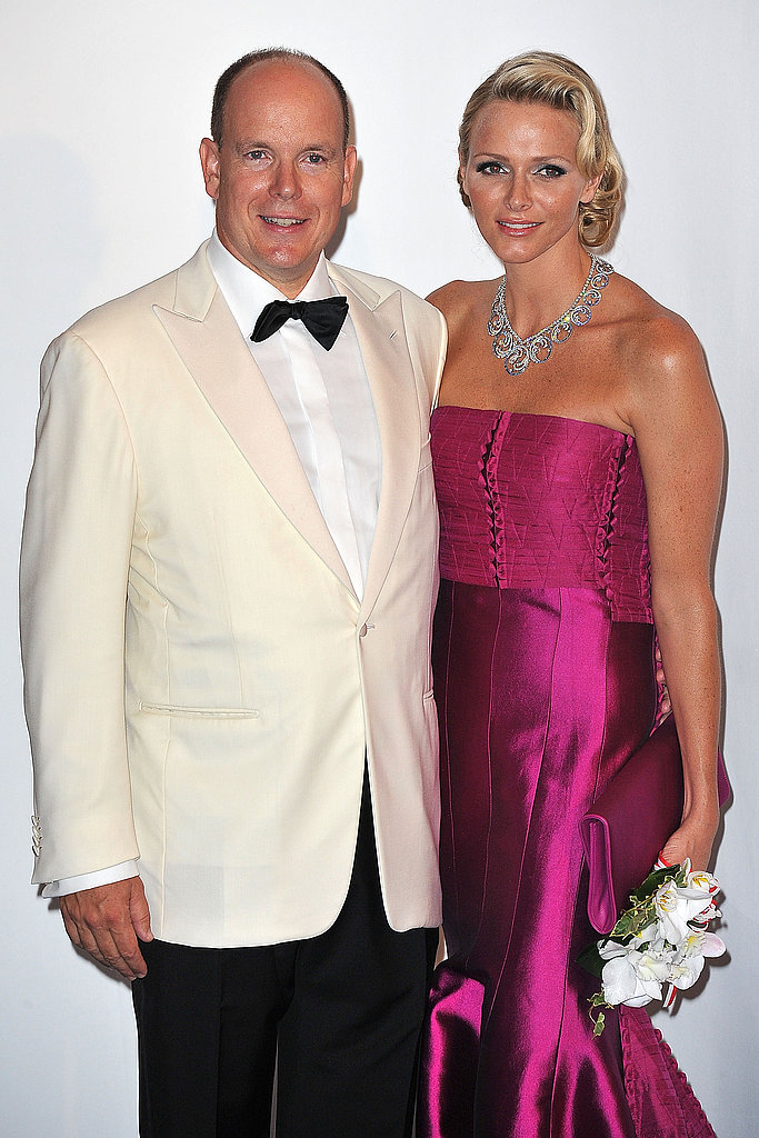 The Prince and Princess of Monaco attend the ball in style.