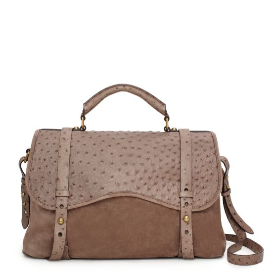 Westward Wanderlust Satchel in Taupe, $795