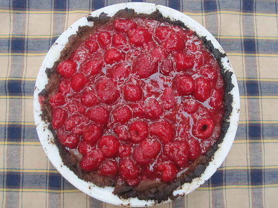 Raspberry Chocolate Pie