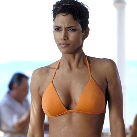 Halle Berry stole the screen wearing a bright orange bikini for her 2002 role in Die Another Day.
