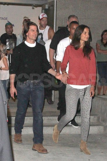 Tom Cruise and Katie Holmes out on the town.