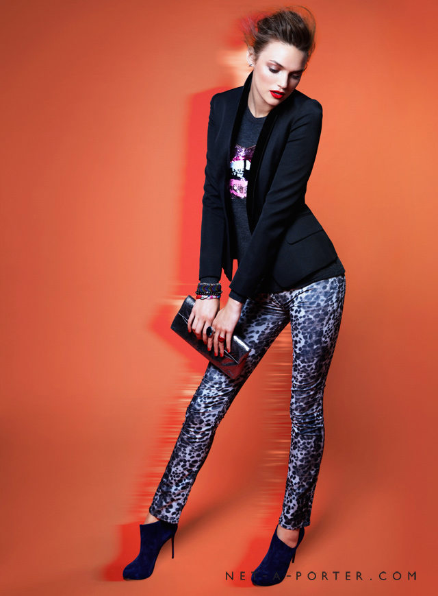 For nights out on the town, make a statement in printed pants.