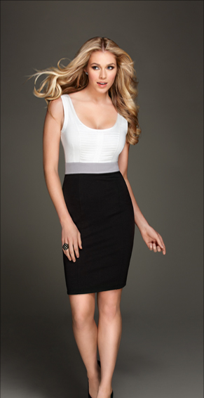 Kardashian Kollection Women's Tuxedo Inspired Mixed Fabric Dress ($69, originally $99)