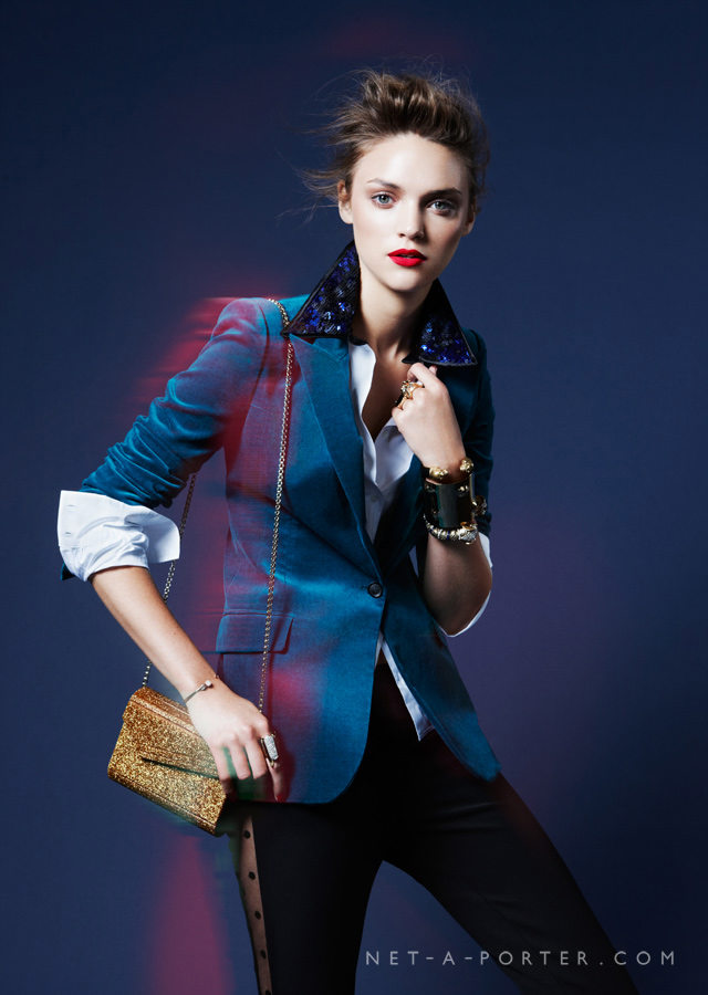 Blue is Fall's new color – try one out in a tailored blazer form.