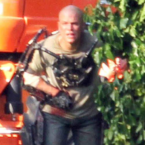 Matt Damon Filming Elysium in Canada Pictures