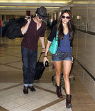 Ian Somerhalder and Nina Dobrev leave LA.