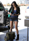 Nina Dobrev at LAX leaving LA.