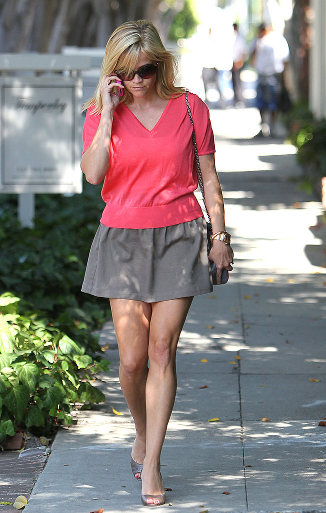 Reese Witherspoon in a short skirt.