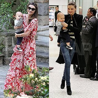 Miranda Kerr Pictures Arriving in Melboune With Flynn Bloom