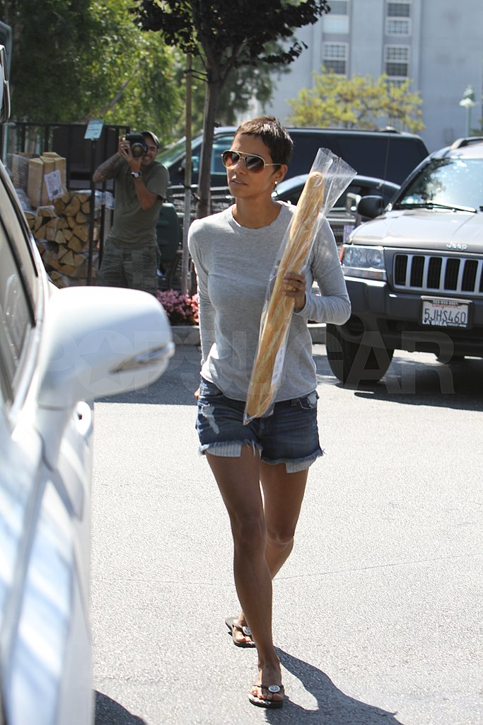 Halle Berry shops in LA.