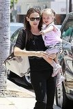 Jennifer Garner with Seraphina Affleck.