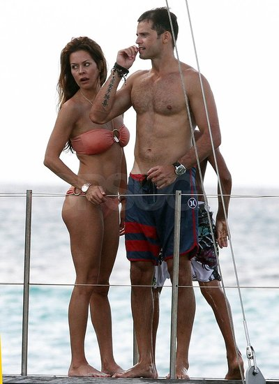 Brooke Burke Dons a Bikini For a Fun St. Bart's Day With Shirtless David Charvet