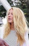 Blake Lively let her blond, beachy waves fly free.