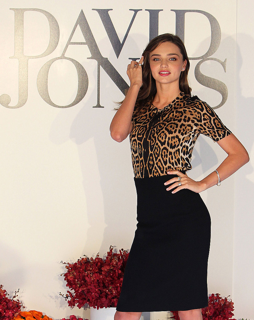 Miranda Kerr models in Melbourne.